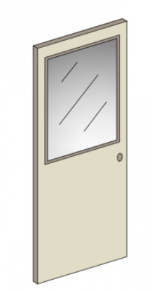 RAY-BAR BALLISTIC RESISTANT METAL DOOR